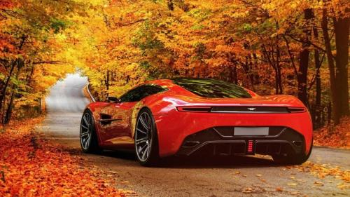 Red-Aston-Martin-DBC-concept-car-road-autumn_1920x1080
